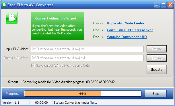 FLV to AVI Video Converter